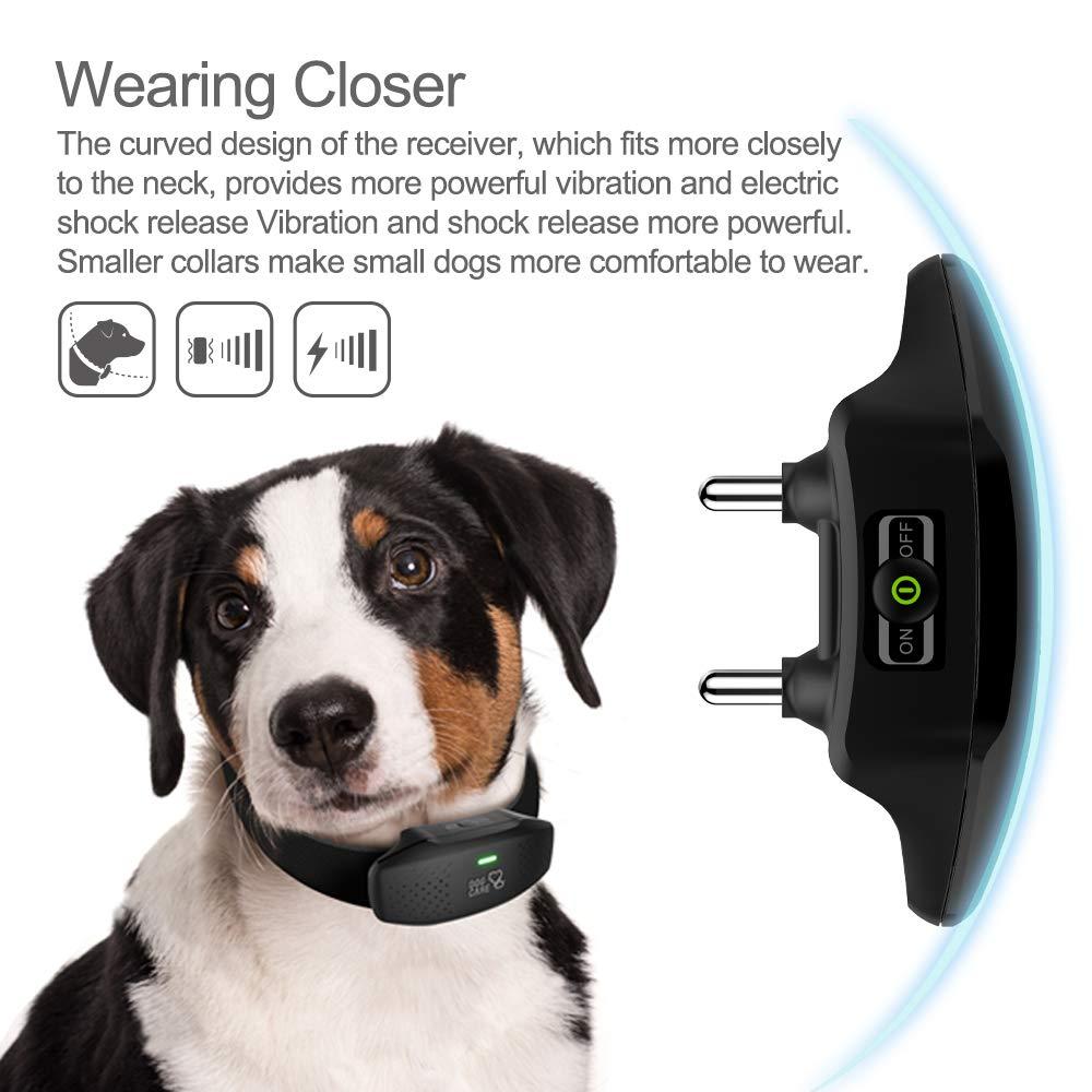 Dog Training Collar - Enhanced Rechargeable Dog Shock Collar w/3 Training Modes, Beep, Vibration and Shock, Waterproof Training Collar, Up to 1000Ft Remote Range, 0~99 Shock Levels Dog Training Set by DOG CARE (Image #4)