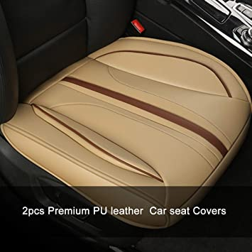 PREMIUM BEIGE LEATHER LOOK SEAT COVERS AUDI A4 11+