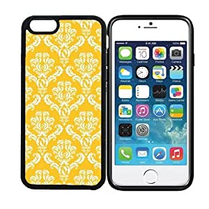 iPhone 6 (4.7 inch display) RCGrafix Damask Pattern - Sunflower - Designer BLACK Cell Phone Case Protective Cover - Fits Apple iPhone 6 - PLUS Bonus Iphone Apps Business Productivity Review Guide