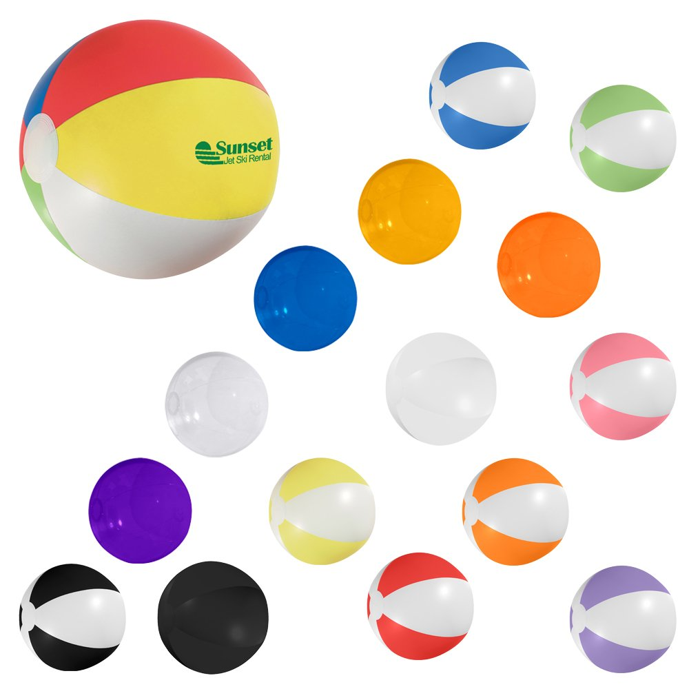 CloseoutPromo 16'' Beach Ball - 150 Quantity - $1.45 Each - PROMOTIONAL PRODUCT/BULK/BRANDED with YOUR LOGO/CUSTOMIZED by CloseoutPromo (Image #4)