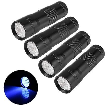 UV Black Light Flashlights,9 LEDs Ultraviolet Blacklight Pet Urine Detector For Dog/Cat