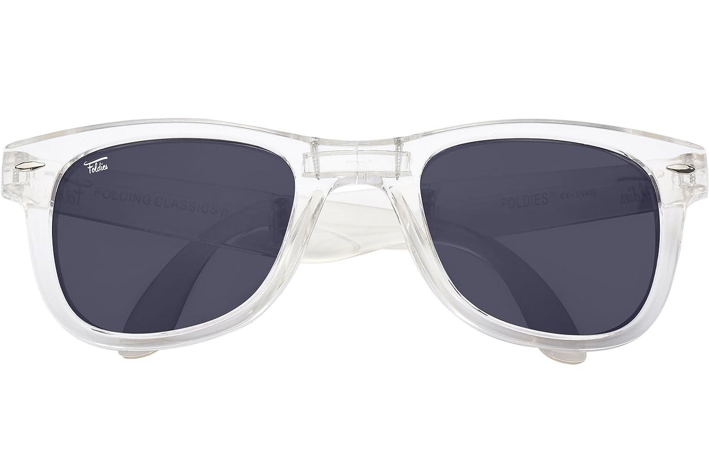 c46e152216 Amazon.com  Foldies Clear Folding Sunglasses with Polarized Black Lenses   Clothing