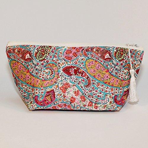 Liberty Print Tana Lawn Bourton Cosmetic Bag Make up Bag Zip Pouch by Gemima London