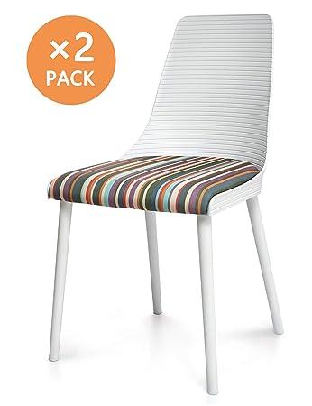 Suhu Stuhl Retro 2er Set Esszimmerstühle Esszimmer Designer Sessel Esstisch Stühle Modern Küchenstühle Stapelstuhl Loungesessel Vintage