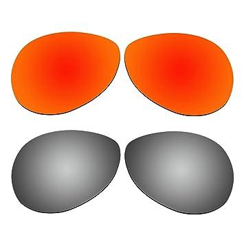 aCompatible 2 Par lentes polarizadas de recambio para Oakley Tie Breaker gafas de sol OO4108 Pack