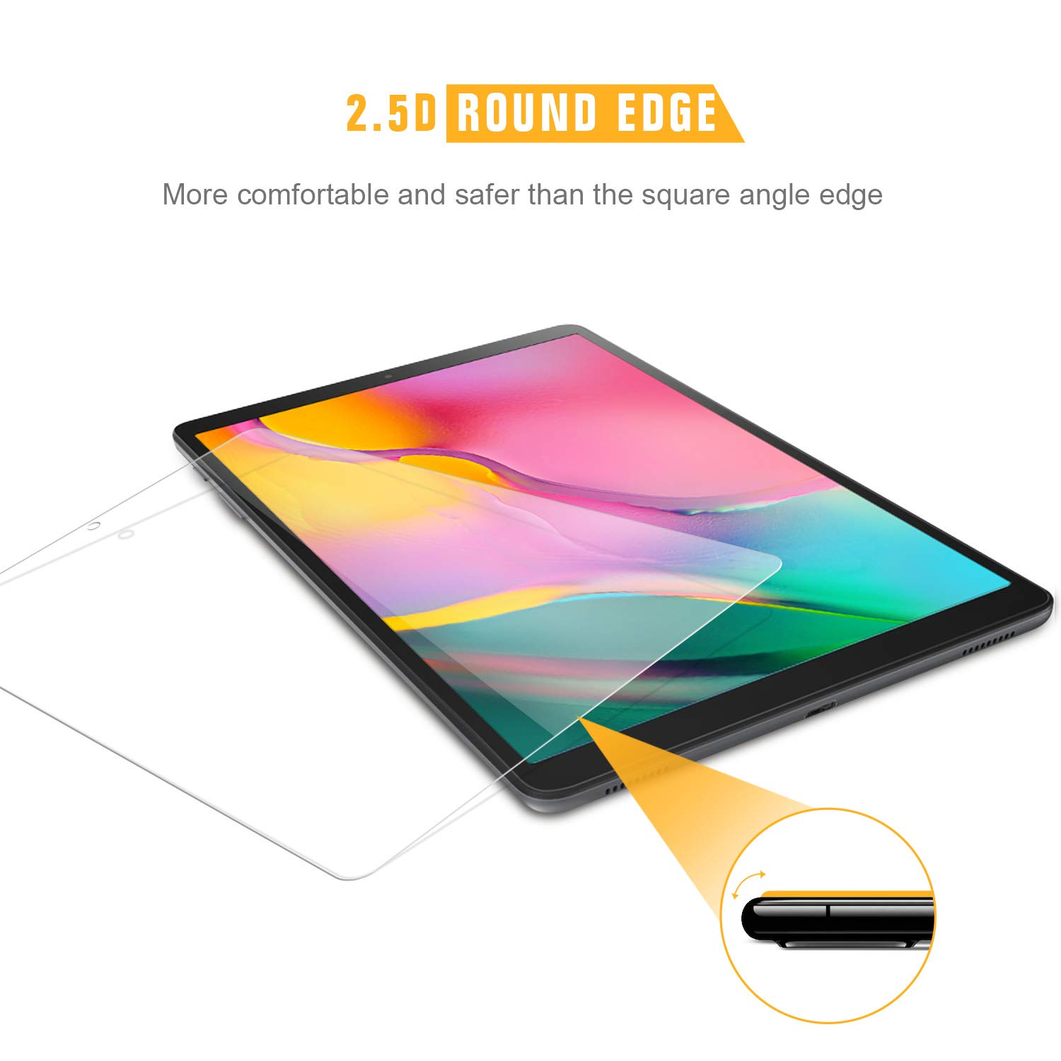 SPARIN 9H Hardness Tempered Glass for Samsung Galaxy Tab A 10.1 2019 SM-T515//T510 Bubble Free//High Response//Scratch Resistant 3-Pack Screen Protector for Galaxy Tab A 10.1 2019,