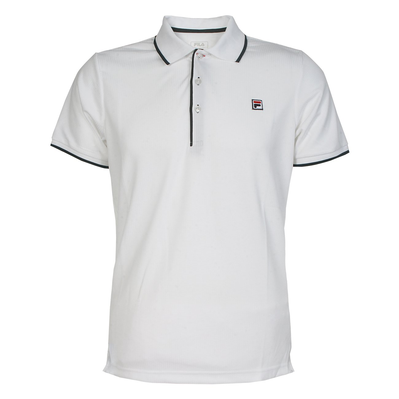 Fila Herren Tennisshirt Tennisshirt Herren Poloshirt Sportshirt Polo Parker weiß 733fa0