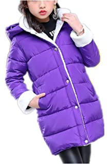 c5c8343ad MILEEO Girls Coat - Girls Puffer Down Coat Winter Jacket with Faux ...