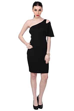 Scorpius Black One Arm Dress At Amazon Womens Clothing Store