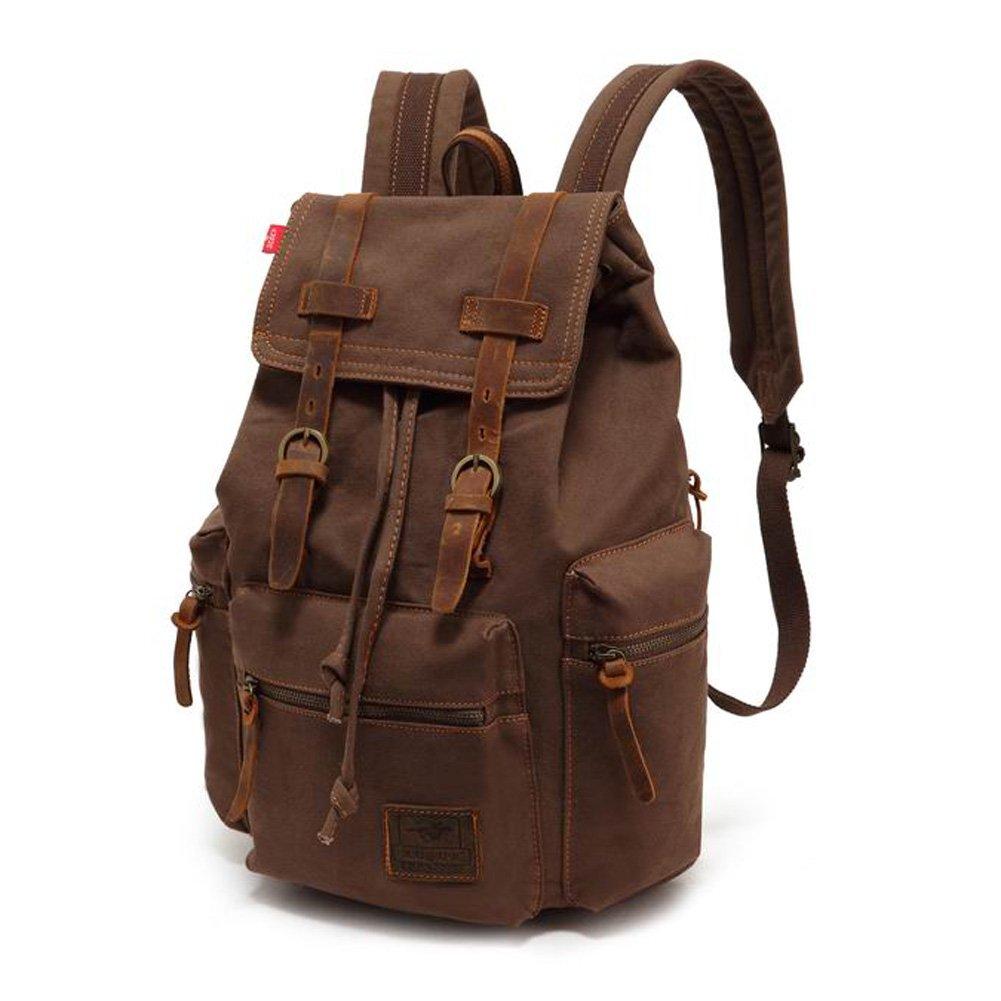 Amazon.com: Canvas Backpack, P.KU.VDSL-AUGUR SERIES Knapsack ...