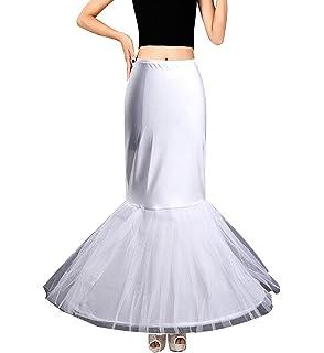 Edith qi Petticoat Enagua 3/4/6 Aros, Largo Miriñaque, Crinolina Vestido