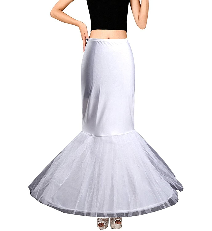 Edith qi Petticoat Enagua 3/4/6 Aros, Largo Miriñaque, Crinolina Vestido de Novia, Aros Ajustable, Un tamaño, Conveniente para el tamaño XS-XXL: Amazon.es: ...