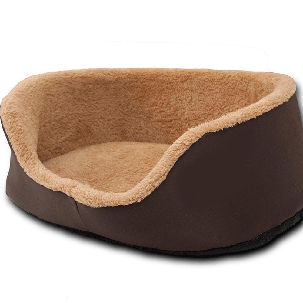 605517cm Daeou Pet mat Polar Fleece Round Sponge mat Washable pet Nest