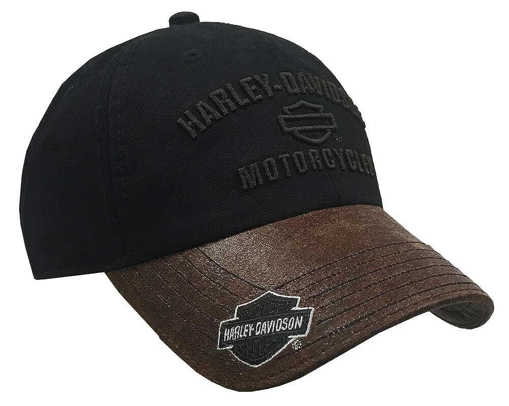 Harley-Davidson Mens H-D Motorcycles Logo Baseball Cap Black//Brown BCC51639