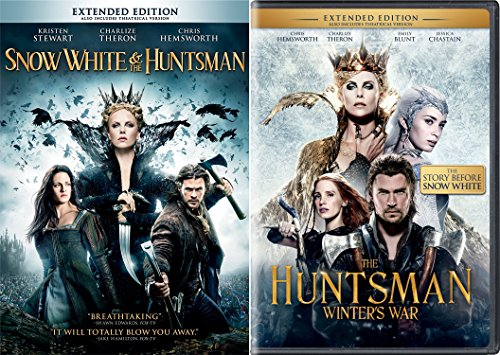 The Huntsman Winter's War & Snow White & The Huntsman DVD Set Amazing Fairy Tale Action Double Feature