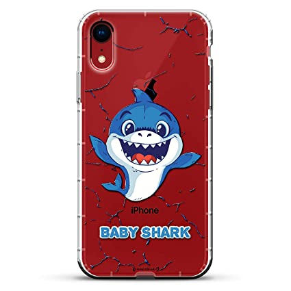 Funny Baby Shark Dancing Design Luxendary Air Series Clear Case With 3d Printed Design Air Cushions For Iphone Xr