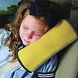 Demarkt Auto Almohada del cinturón de seguridad del coche Proteja hombro almohada cojín amortiguador del vehículo Ajuste del cinturón de seguridad para los niños de los niños (yellow)