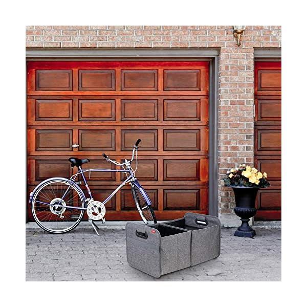 61WiqCe6fUL achilles Auto Faltbox, Kofferraumtasche faltbar, Einkaufstasche, Kofferraum-Organizer, Autotasche, Falt-Korb, Falttasche…