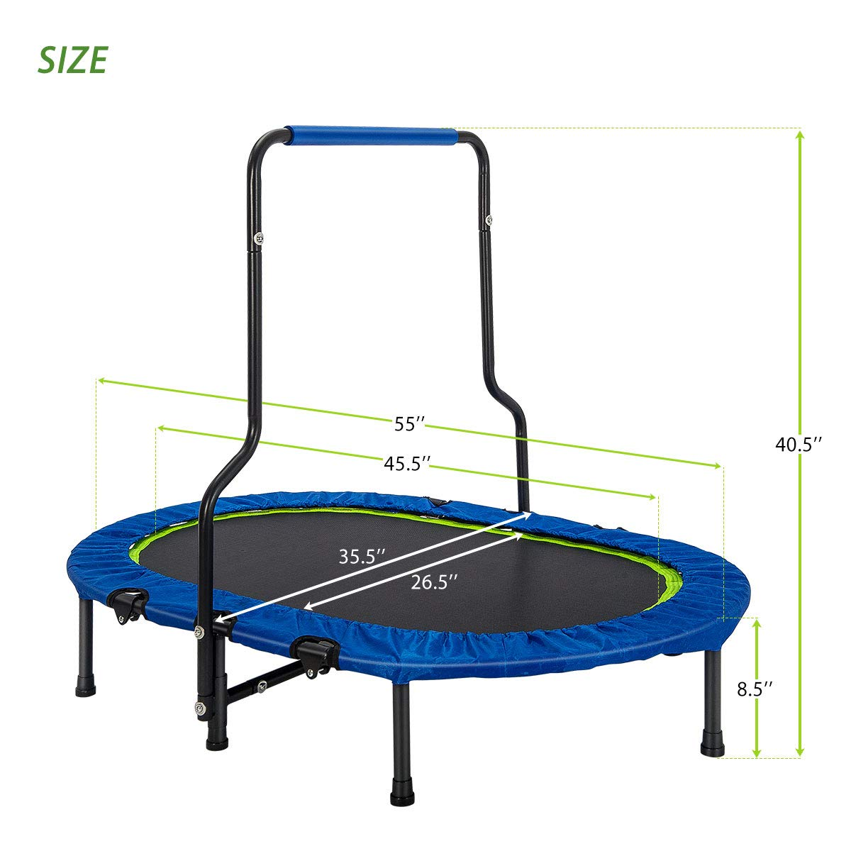 Merax Mini Rebounder Trampoline with Handle for Two Kids, Parent-Child Trampoline (Blue) by Merax (Image #6)