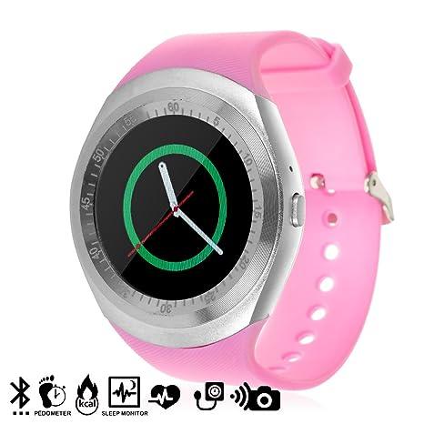 TEKKIWEAR. DMX064WHPNK. Smartwatch Y1 Plus con Asistente De ...
