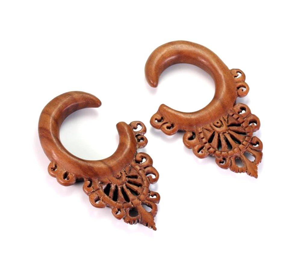 The DOILY Red Saba Wood Hanger Earring Organic Body Jewelry - Price Per 1-6mm ~ 2g