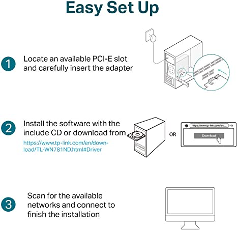 Tp Link Tl Wn781nd Interne Pci Express Wlan Netzwerk Computer Zubehör