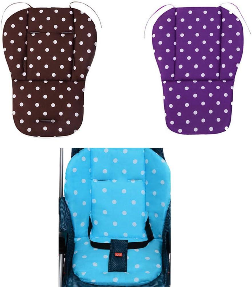 Haptian Kinderwagenkissen Kinderwagen Esszimmerstuhl Sicherheitssitzlehne Warme doppelseitige Wattepad Universal Verdickungskissen