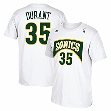 Adidas Kevin Durant Seattle Supersonics NBA Hombres Color Blanco Alma Swingman Nombre & número Jersey Camiseta
