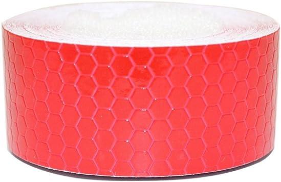 Maiqiken 1 Rolle Reflektor Streifen Rot Selbstklebende Für Auto Lkw Anhänger Sicherheit Warnung Reflektorband Tape Aufkleber 5cm X 5m Auto
