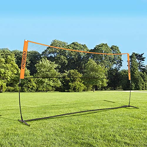 Outroad 10 FT Portable Tennis Badminton Practice Net for Kids and Youth, Pickleball Net Stand for Adults, Adjustable Height with Carry Bag
