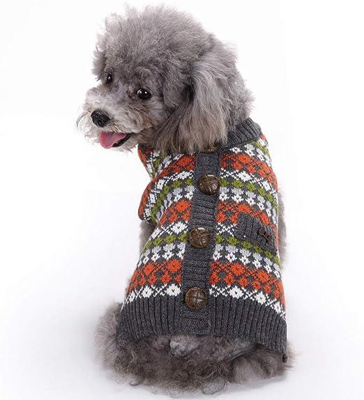 Handfly Estilo británico Suéter de Puente cálido para Mascotas Perros y Gatos Prendas de Punto Abrigo Ropa Ropa para Perros pequeños Gatos Jersey de Punto: Amazon.es: Productos para mascotas