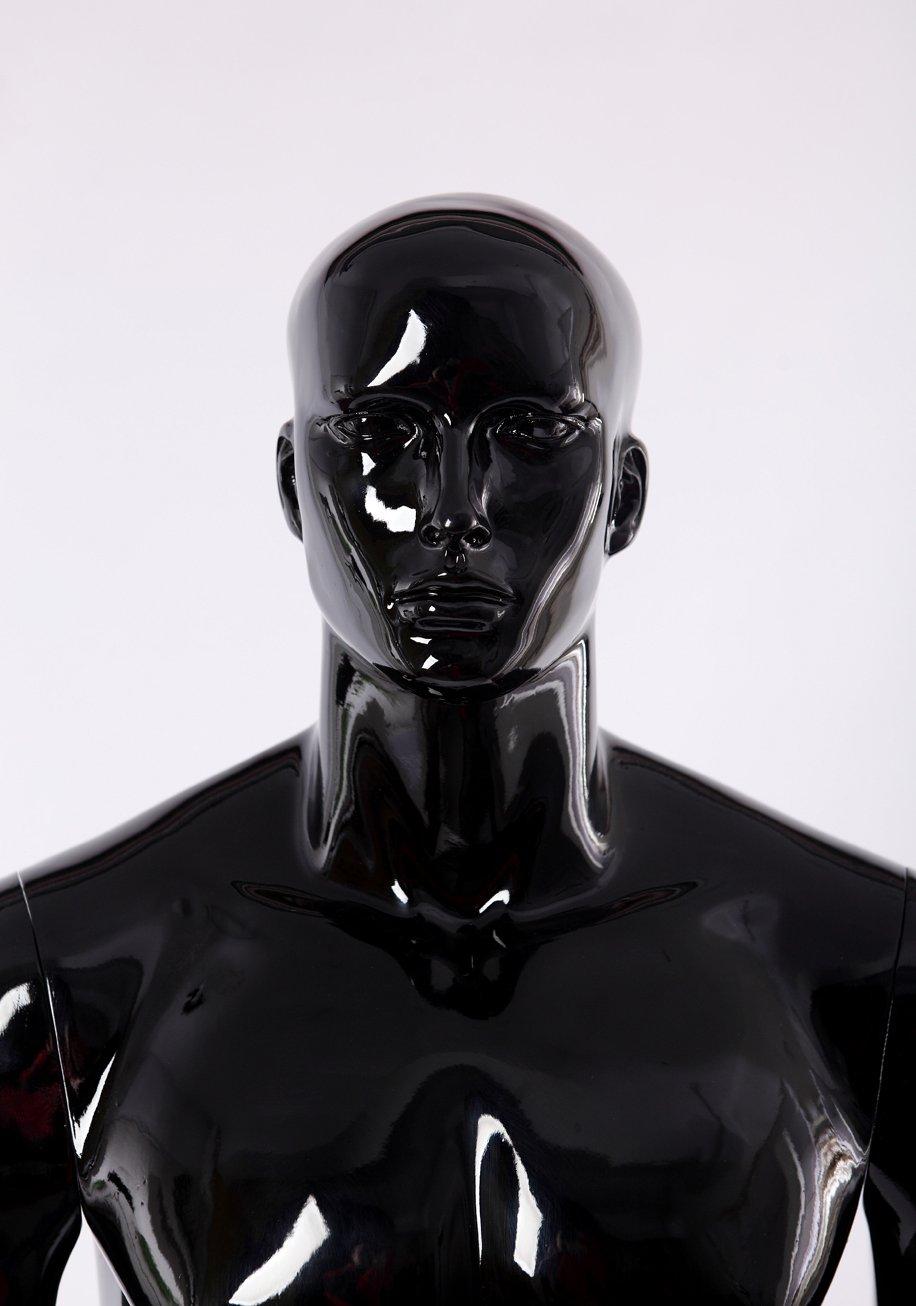 Eurotondisplay manichino maschile astratto codice articolo XM-11H di colore nero lucido