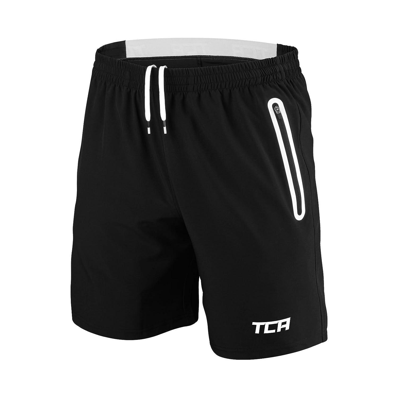 TCA Homme Elite Tech Short de Course L/éger avec Poches /à Ferm/éture /Éclair