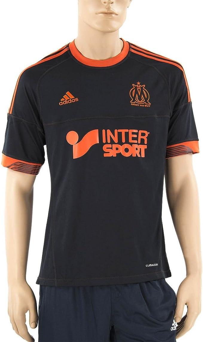 Camiseta de fútbol del Olympique de Marsella negro y naranja ...