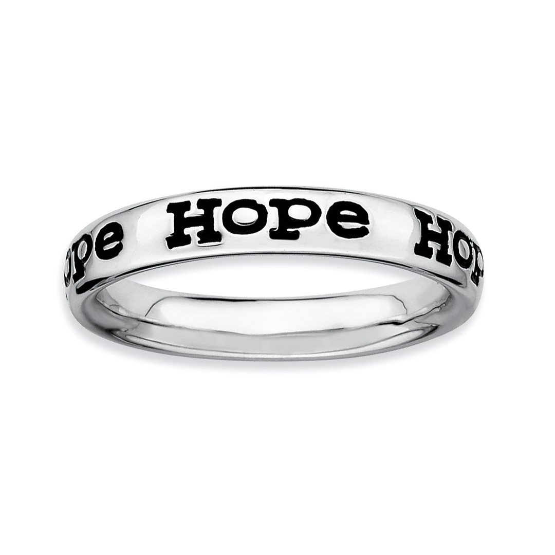 ICE CARATS 925 Sterling Silver Enameled Hope Band Ring Size 8.00 Stackable Fine Jewelry Ideal Gifts For Women Gift Set From Heart
