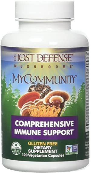 Host Defense – MyCommunity Multi Mushroom Capsules, Comprehensive Support for a Robust and Resilient Immune System with Lion s Mane, Turkey Tails, and Reishi, Non-GMO, Vegan, Organic, 120 Count FFP