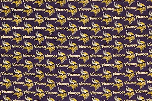 Minnesota Vikings Football Purple Sheeting Fabric Cotton 5 Oz (Minnesota Vikings Fabric)