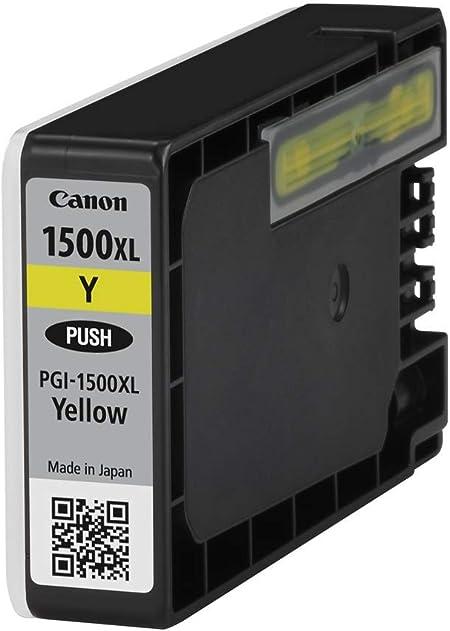 Canon Tintenpatrone Pgi 1500 Xl Y Gelb Yellow 12 Ml Original Für Maxify Drucker Bürobedarf Schreibwaren