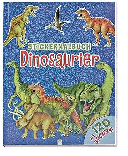 Stickermalbuch Dinosaurier: Mit 120 Stickern