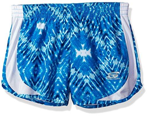 Skechers Big Girls' Sport Running Short, Bluefish Print, Small (8-10) by Skechers
