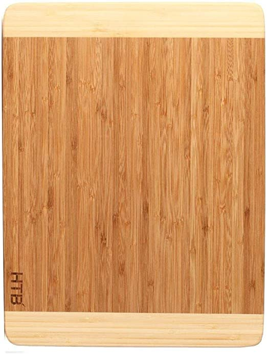 HTB Bamboo Cutting Board Set,Thick Cutting Board,Best Kitchen Cutting Board  for Meat,Vegetable,Fruit and Cheese …