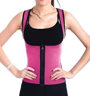 SAYFUT Reversible Sweat Shapewear Weight Loss Neoprene Sauna Tank Top Vest