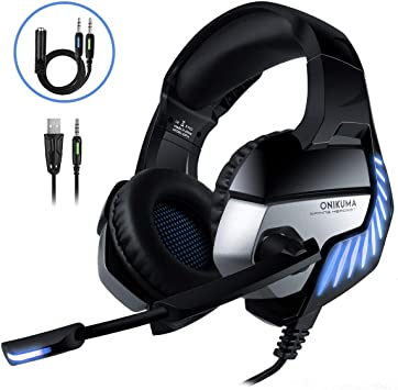 Cascos Gaming CHEREEKI Cascos para Juegos PS4, PC, Xbox One ...