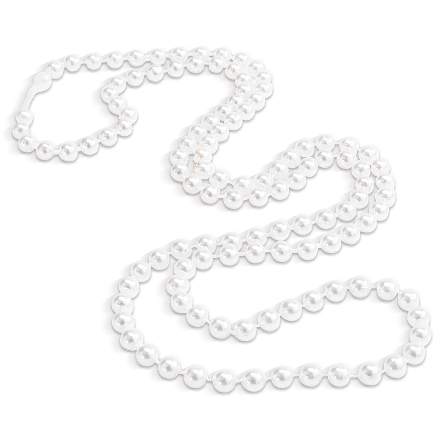 Amazon: Fauxpearl Necklaces Party Accessory (8 Necklaces Per Order):  Clothing