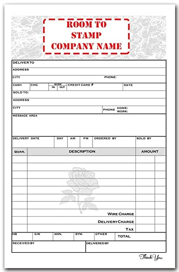 Amazon.Com : Flower Shop Sales Invoice : Office Products