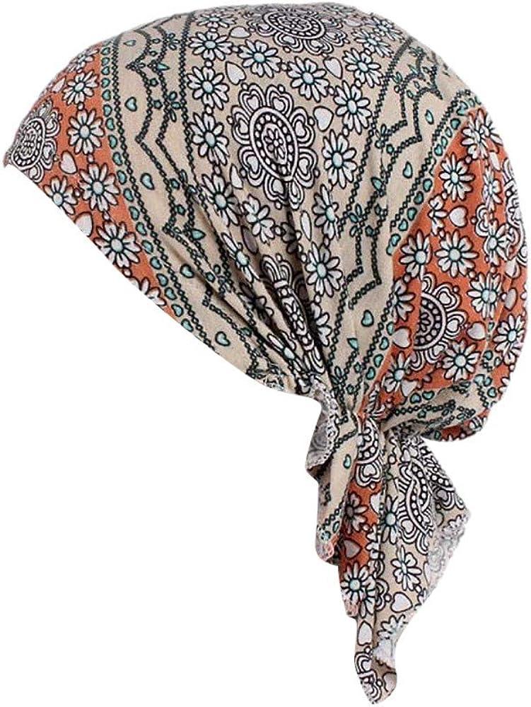 TEBAISE Turban Damen Kopfbedeckung Turban Sommer Winnter Hut Chemo Kopfbedeckungen Headwear Muslim Kopftuch Turban M/ütze Beanie