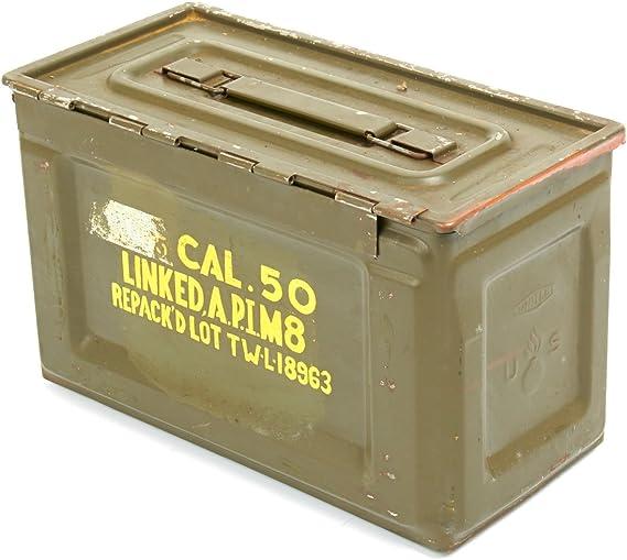 Original EE. UU. Segunda Guerra Mundial modelo M2 BROWNING .50 Cal municiones puede: Amazon.es: Deportes y aire libre