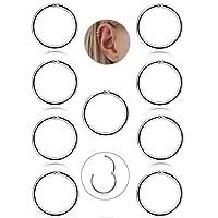 Adramata 9 Pcs 16G Boucle D'oreille Cartilage Boucle D'oreille Petite Anneau Pour Femme Filles Acier Inoxydable Piercing Septum