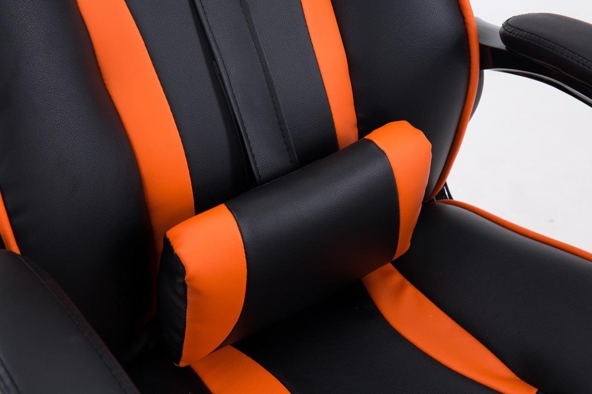 Poltrona Studio Racing Oscillante I Poltrona Sportiva Scrivania Regolabile e Girevole CLP Sedia Ufficio Gaming Diesel in Similpelle Poltrona Direzionale Portata 150kg Nero/_Arancione