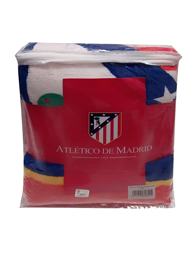 Atlético de Madrid Manta Coral de 170x130cm. - Tejido de Calidad - Producto con Licencia Oficial: Amazon.es: Deportes y aire libre